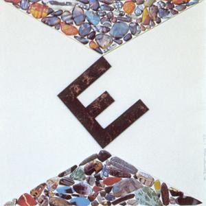 Escritura apuntalada por otra escritura Poesía Visual · Técnica mixta · 1998· 50 x 50 cm.