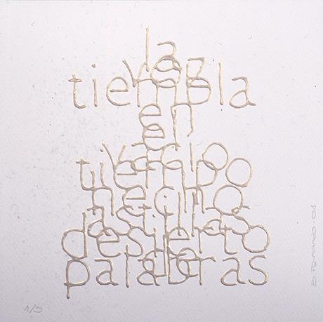 Escrituras superpuestas de Bartolomé Ferrando - La voz... 2001