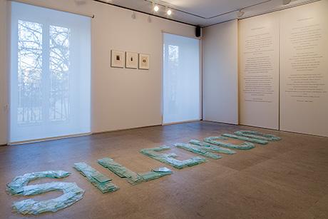 Instalación poética Silencio de Bartolomé Ferrando, 2016
