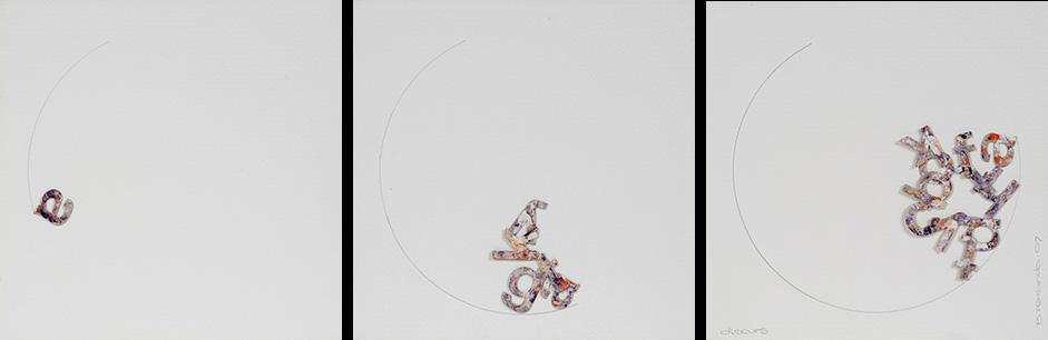 Bartolomé Ferrando Discurso (1, 2 y 3) - Poesía visual 2007