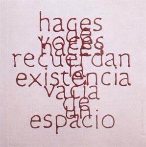 Escrituras superpuestas de Bartolomé Ferrando - Haces... 2001