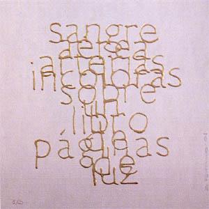 Escrituras superpuestas de Bartolomé Ferrando - Sangre... 2001