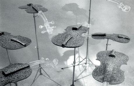 Instalación poética Residuos del sonido de Bartolomé Ferrando, 1996