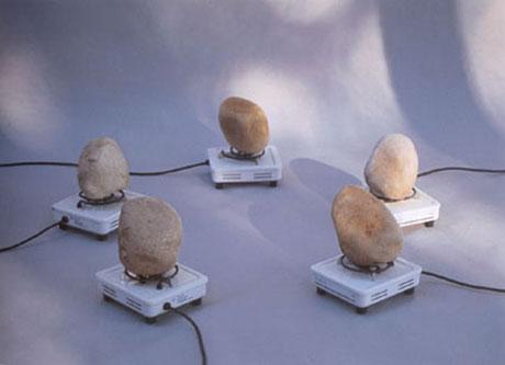 Instalación poética Hornillo eléctrico de Bartolomé Ferrando, 1997