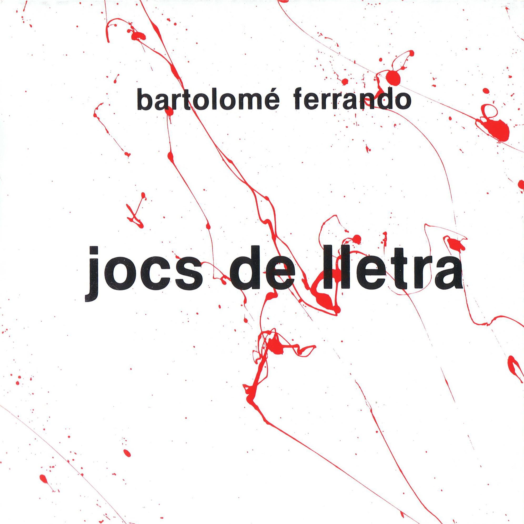 Portada catálogo Jocs de lletra, Bartolome Ferrando 1987