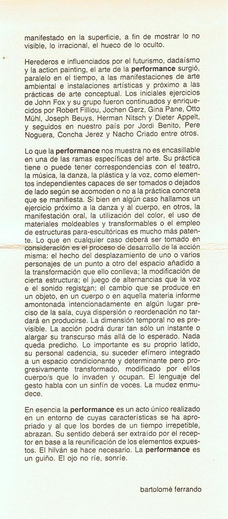 La performance como lenguaje, pág. 2