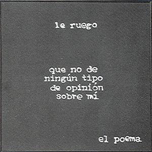 Le ruego... - Propuesta poética Bartolomé Ferrando 1989