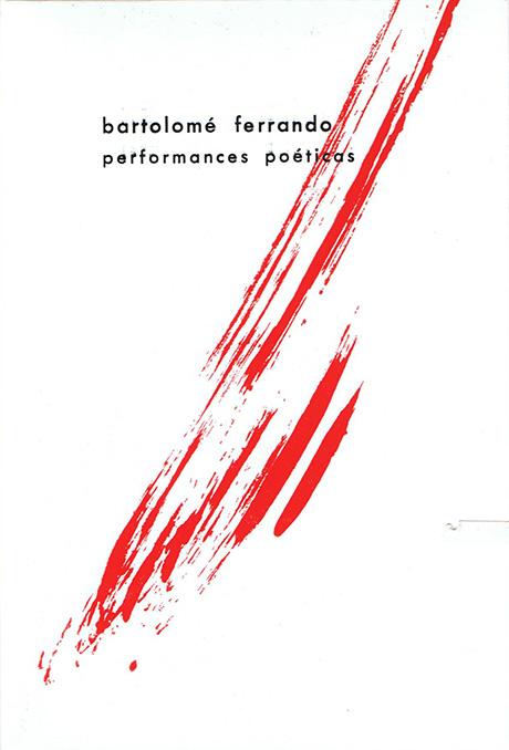 Portada Performance Poéticas Bartolomé Ferrando