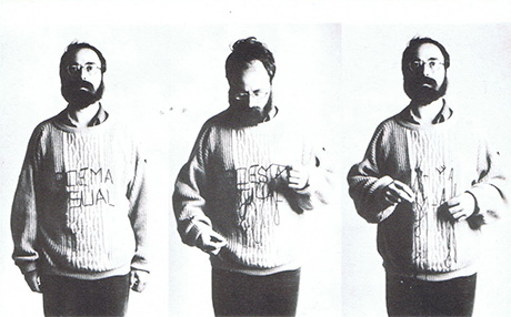 Poema visual, performance poética Bartolomé Ferrando
