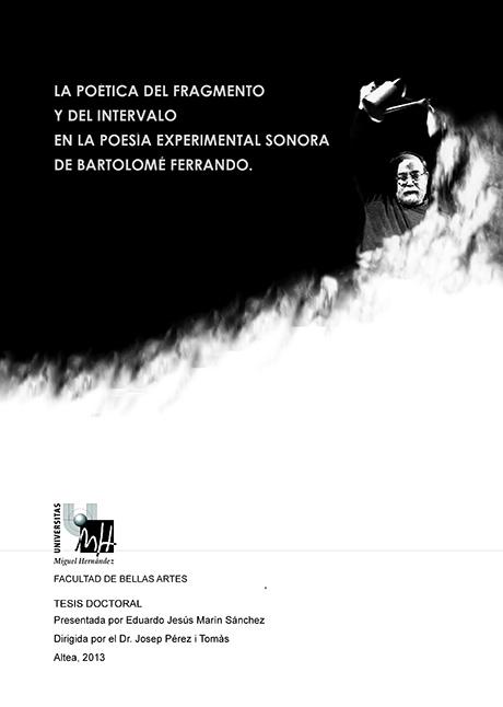 Tesis Doctoral sobre Bartolome Ferrando por Eduardo Jesús Marín 2013