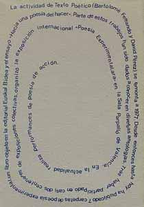 Texto poético 7, contraportada